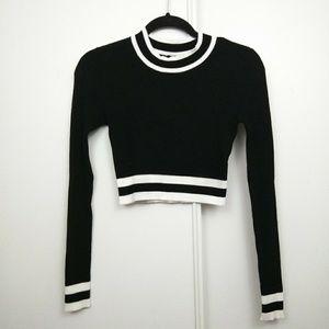 Divided H&M | Knit Cropped Black White Turtleneck